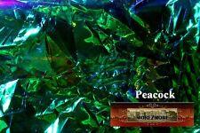M00075 MOREZMORE Angelina Fantasy Film PEACOCK GREEN Heat Bondable 50'