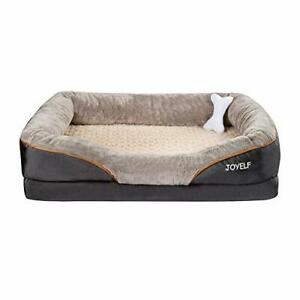 XX-Large Memory Foam Dog Bed, Orthopedic Dog Bed & Sofa with Removable