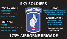 173RD AIRBORNE BRIGADE  3'X5' 2PL POLYESTER 1-SIDED INDOOR 4 GROMMET FLAG