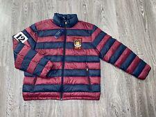 Polo Ralph Lauren Down Puffer Full Zip Jacket Burgundy Navy XL $228 Brand New