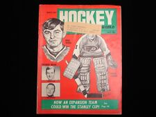 March 1968 Hockey World Magazine - Doug Favell, Bernie Parent Cover