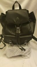 NWT $175 REBECCA MINKOFF Alice Nylon Backpack Black Silver NEW