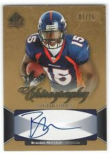 2006 UD SP AUTHENTIC #CH-BM BRANDON MARSHALL CHIROGRAPHY GOLD ON-CARD AUTO #/25