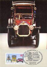 BUND MK AUTO BENZ VELOCIPED 1909 CAR MÜNCHEN ADAC CARTE MAXIMUM CARD MC CM d9508