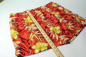Mens XXL Tommy Bahama Swim Trunks Red Floral Hawaiian Shorts 2XL Excellent sf8