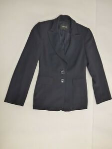 JAEGER Black Classic Boyfriend Blazer Tailored Jacket size UK 10 Wool Blend