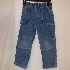Jeans Denim Blue Boys  Size 4T Pull On  Pockets Expand