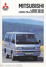 Mitsubishi L 300 Bus Allrad Bus Prospekt 5/92 brochure 1992 Auto PKWs Japan Asia