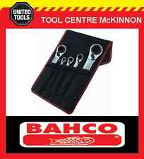 BAHCO S4RM/5T 5pce REVERSIBLE 8–36mm RATCHET RING SPANNER SET – 20 SIZES!