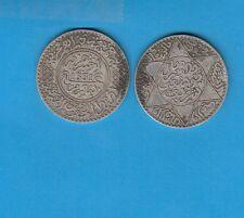 Gertbrolen Maroc   5 Dirhams (1/2Ryal)  1331 Paris  Silver Coin of Morocco