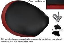 BLACK & DARK RED CUSTOM FITS TRIUMPH THUNDERBIRD 1600 1700 FRONT SEAT COVER