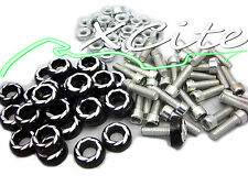 Black set fairing bolts 6mm CBR250RR CBR250R CBR400 #BT101#