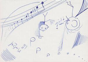 ERHARD KARKOSCHKA --- original signiert - A5#13a