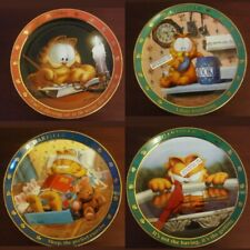 The Danbury Mint Jim Davis A Day With Garfield Lot of 4 Plate Collection