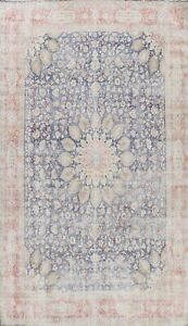 Antique Muted Distressed Traditional Area Rug Evenly Low Pile Hand-knotted 10x14