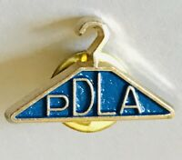 PDLA Coat Hanger Organisation Pin Badge Rare Vintage (G9)