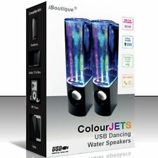 ColourJets USB Powered Speakers PC Sound Music LED Lights Dancing Water Fountain