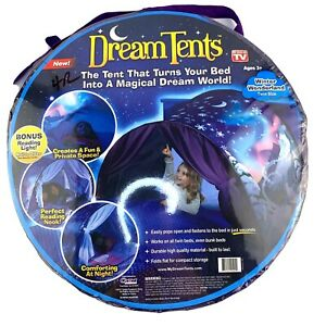 Childs Dream Tent Turns Twin Bed Into Magical Dream World Ages 3+ Pretend Play