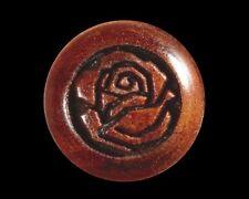 Bridge Pins for Guitar, Rosewood, Engraved Rose