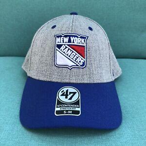 New York Rangers Hat Gray Blue  NHL Hockey NYC Fanatics Small Medium Men NEW