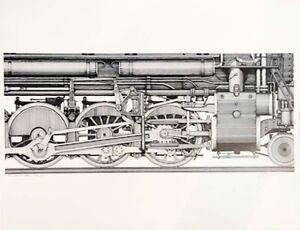 Knight Foundry Railroad Train Locomotive Art Print by David Weitzman