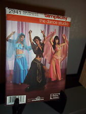 Simplicity #2941 Sewing Pattern Misses Belly Dance Costumes Size HH 6 8 10 12 FF