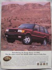1996 Range Rover 4.6 HSE Original advert