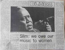 MEMPHIS SLIM : newspaper INTERVIEW ARTICLE -1976-