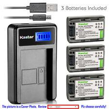 Kastar Battery LCD Charger for Sony NP-FP50 FP51 & DCR-DVD92 DCR-HC16 DCR-HC18
