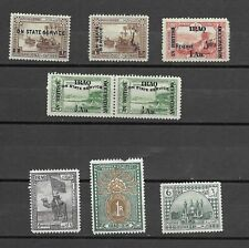 4262: Iraq; selection of 7 mint stamps. British Occupation, etc. 1918-1923