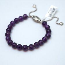 New DAVID YURMAN Spiritual Bead Bracelet; Silver, Amethyst Adjustable NWT