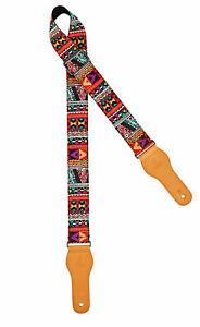IBANEZ GS260TA-RD Gitarrengurt schwarz mit rotem Tribal 1650mm lang 60mm breit