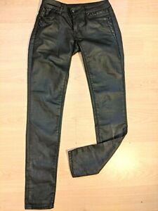 Kaporal W 25 Taille 34 Slim Superbe pantalon jeans jean denim noir coton enduit