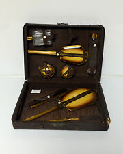 Vintage vanity mirror brush comb set c1920 1930