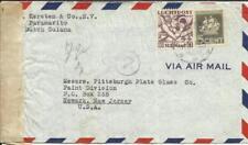 Suriname Sc#C5,#149 Paramaribo 18/10/41 WWII CENSOR, Airmail to USA, see reverse