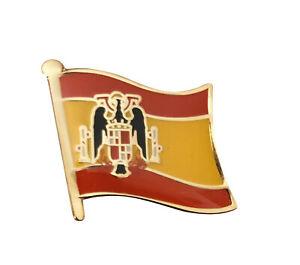 Flag Of Spain 1945-1977 General Franco Metal Enamel Pin Badge 25mm X 20mm