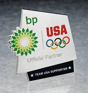 OLYMPIC PINS BADGE 2012 LONDON ENGLAND UK BP SPONSOR PARTNER TEAM USA USOC
