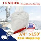"3/4""x150' Twisted Three-Strand Braid Boat Anchor Marine Mooring Rope Dock Line"