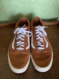 Vans Old Skool Ginger Brown Suede Trainers. UK12 EUR47. Cost £75