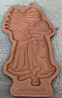1991 LONGABERGER POTTERY COOKIE / CHOCOLATE MOLD KRISS KRINGLE