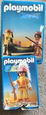 Playmobil Western nativo americano Trapper (3397 y 3395 jefe indio (retirado)