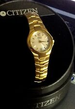 New Citizen Eco Drive Women's Golden Bracelet Watch  Up to 50% off MSRP
