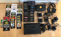 Atari 2600 W/29 games Console & Games Tested & Working Original Game Brochures