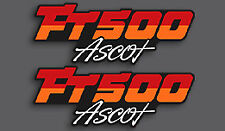 1982 Honda FT500 Ascot - Fuel Tank & Side Covers Decal Decals Set - BLACK