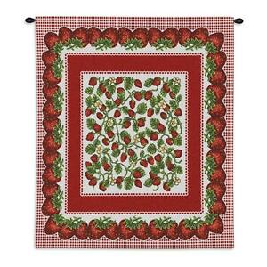 26x34 STRAWBERRY FESTIVAL Fruit Tapestry Wall Hanging