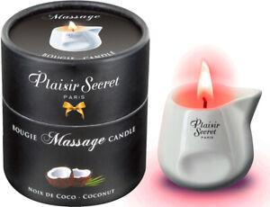 Plaisir Secret Paris Massage Candle weiß Kokos 80ml Kerze und Massageöl in einem