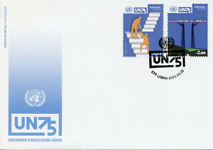 Portugal UN Stamps 2020 FDC United Nations 75 Years UN75 2v Set