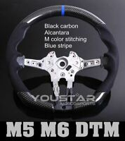 DTM BLUE Genuine CARBON Alcantara Steering Wheel for BMW M5 M6 F10 F12 F06 F07