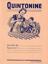 PROTEGE CAHIER SUPERBE + QUINTONINE + EFGÉ Valenciennes+ 6 illustrations en bleu