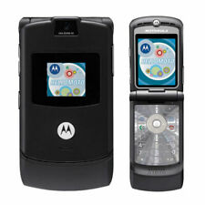Motorola Razr V3 Gsm Unlocked Cellular Phone Black Refurbished Flip Mobile Phone